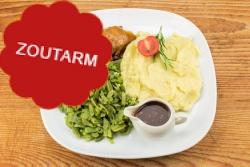 Natriumarme slavink, snijbonen en aardappelpuree