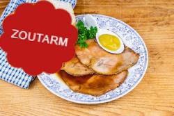 Zoutarme varkensfricandeau met jus voor een 'broodje warm vlees'