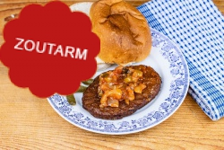 Zoutarme hamburger speciaal voor een 'broodje hamburger'