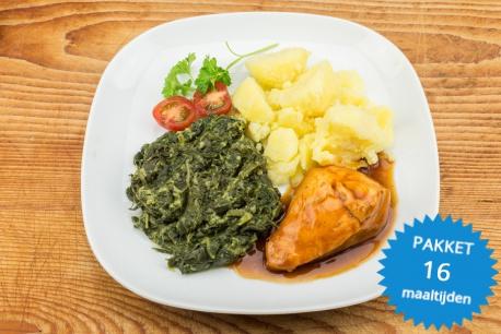 16 maaltijden met kip en rundvlees